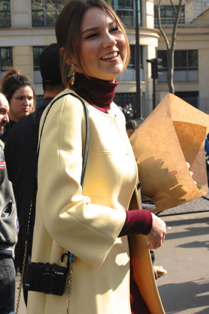Love the yellow Zara coat!