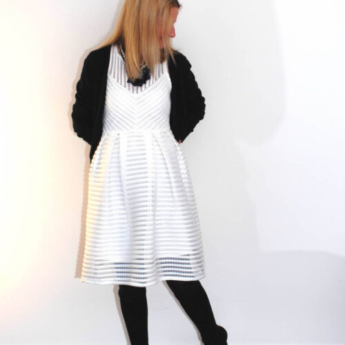 Dress by Dotti worn in winter