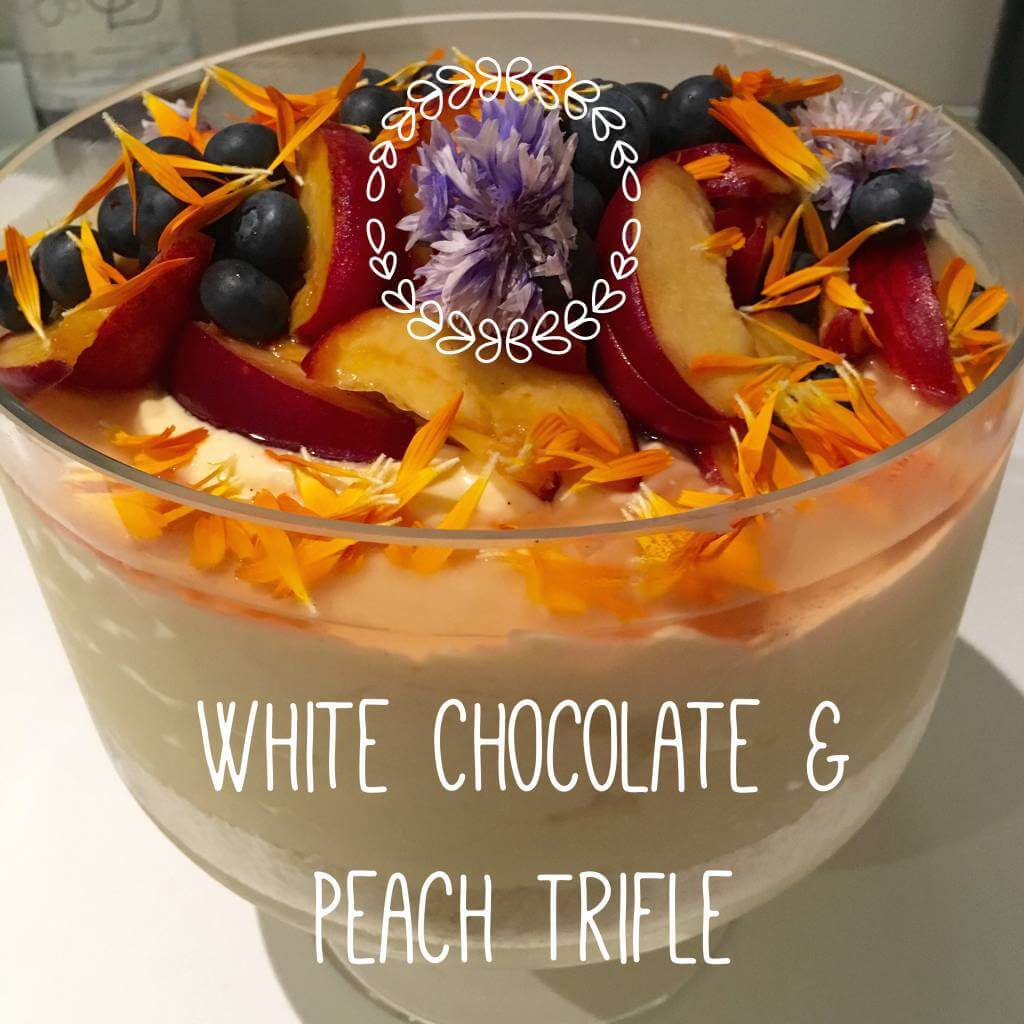 White Chocolate & Peach Trifle
