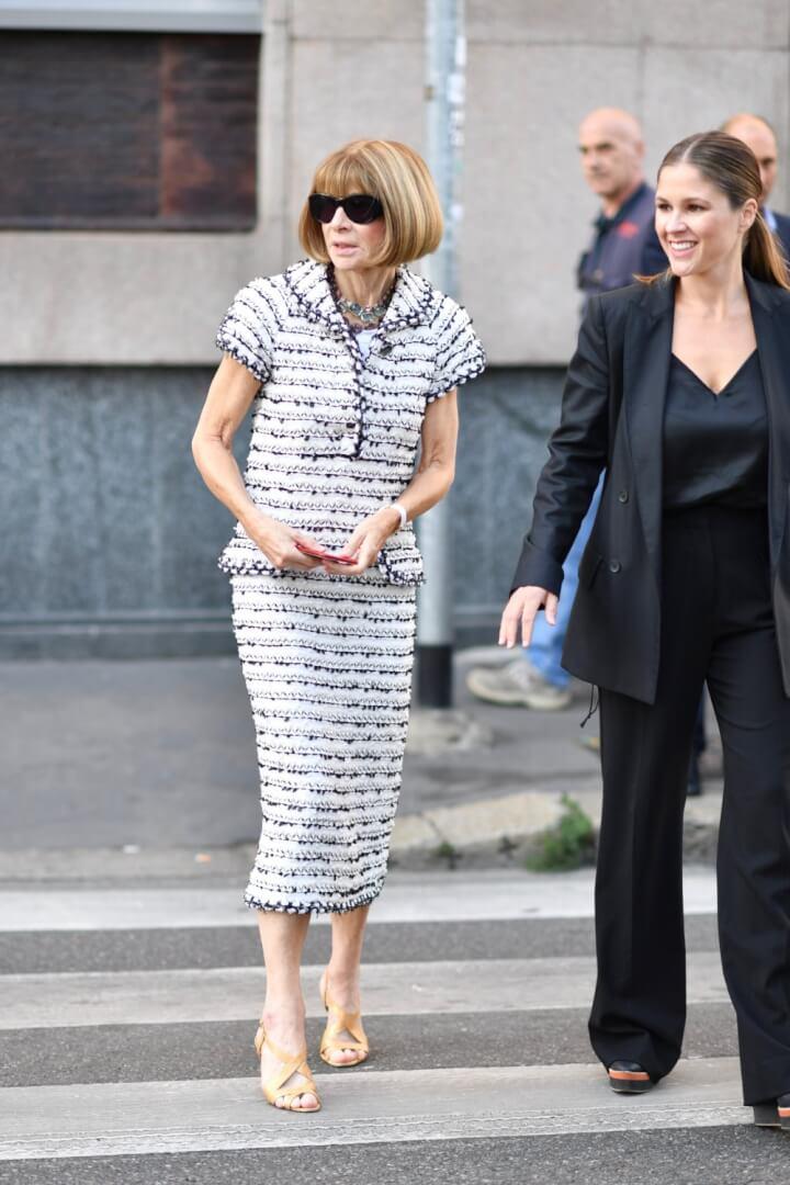 Milan Fashion Week Street Style Anna Wintour