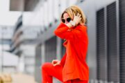 How to Successfully Style a Red Suit - Especially Over 40