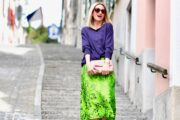 How to Style a Neon Green Skirt