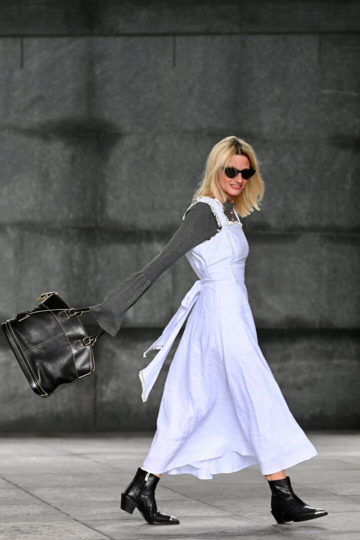 How to Wear Your White Summer Dress in Fall