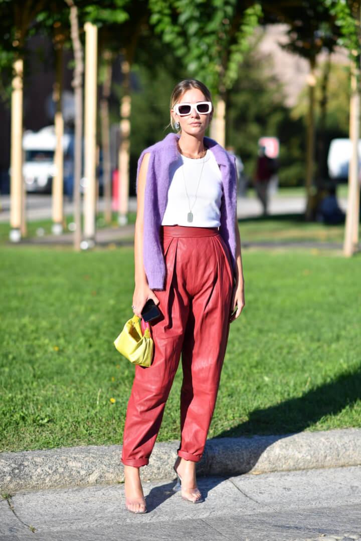 9 Ways Fashionistas Wear Leather in Milan
