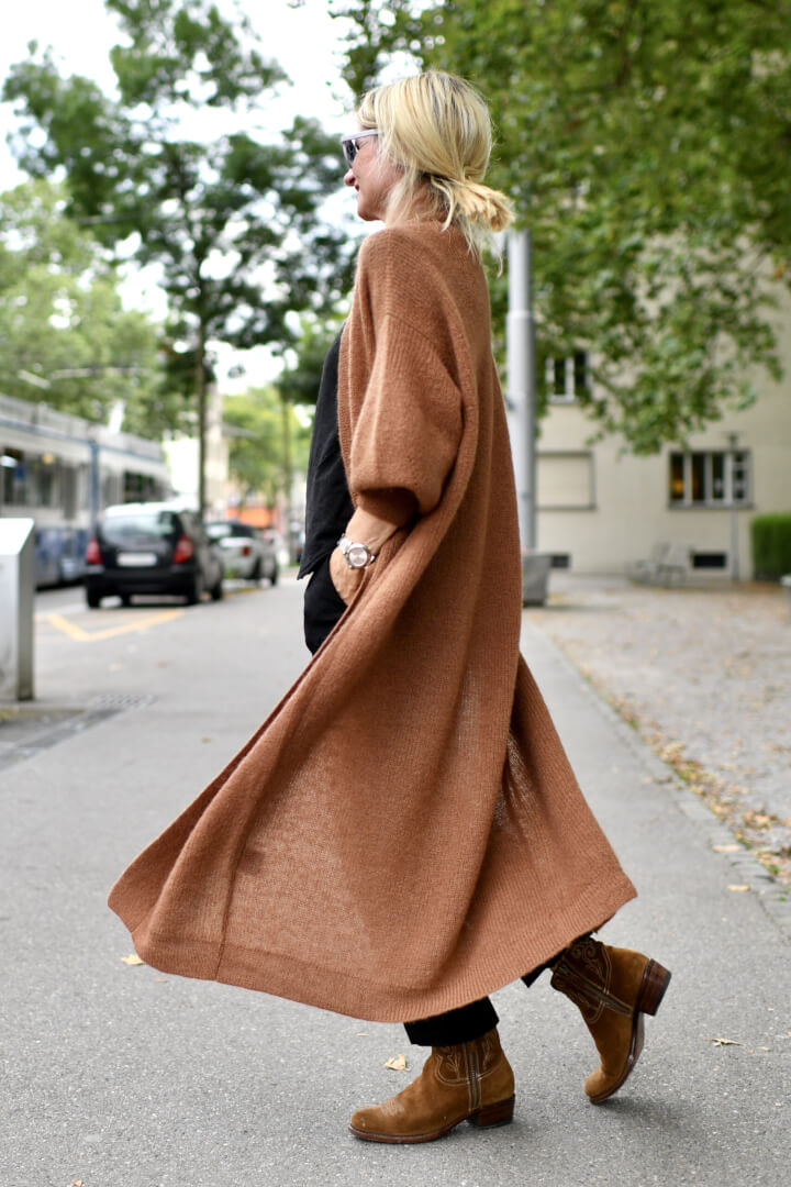 Not Without a Leather Coat and Chunky Long Knit
